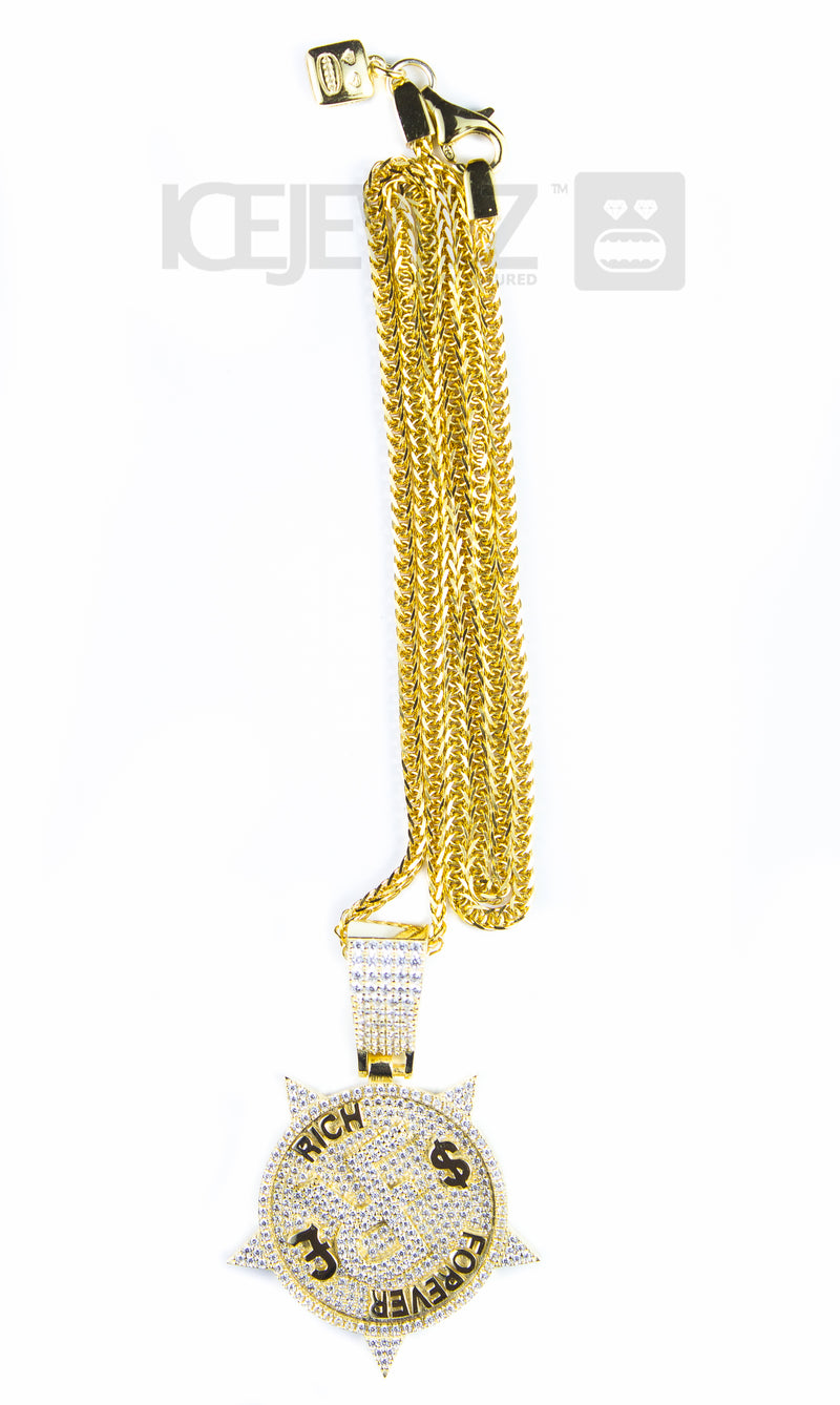 Rich forever Micro Pendant (Gold Plate)