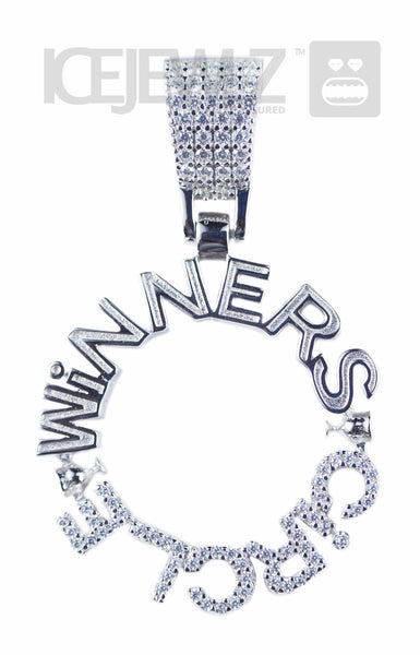 Winners Circle Micro Pendant (Silver) with a chain