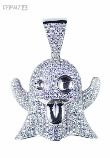 Ice Ghost Micro Pendant (Silver) with Chain