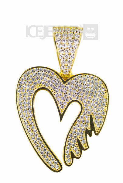 Mum Heart Micro Pendant (Gold plate) with Chain