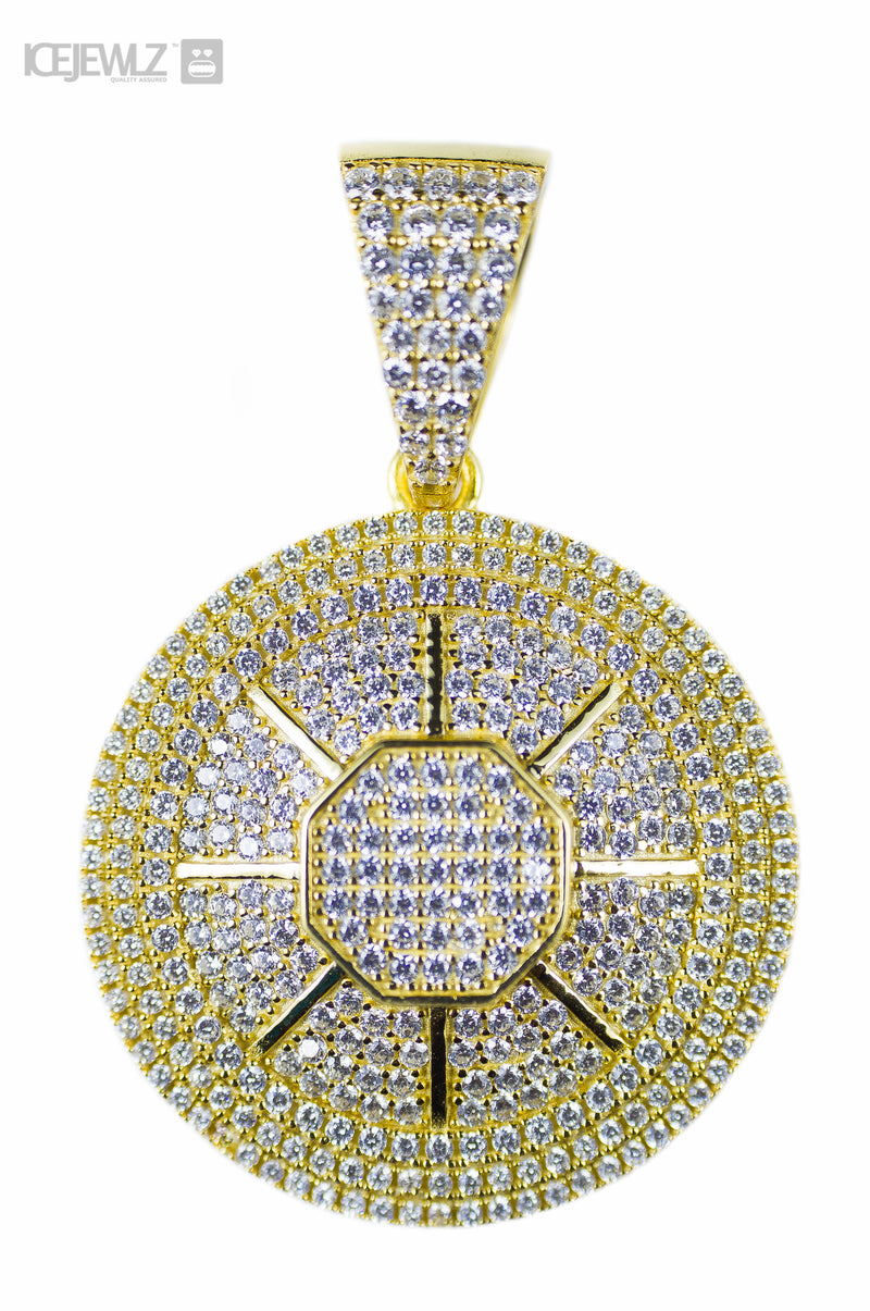 Wheel Mirco pendant (Gold plate)