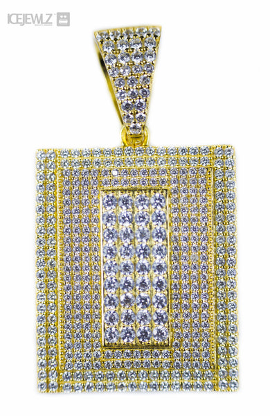 Products tagged new items page 28 icejewlz solid rectangle design micro pendant gold plate with chain aloadofball Images