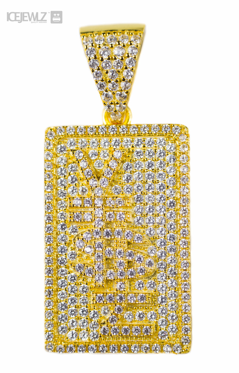 Y$£ Micro pendant (Gold plate)