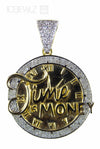 Time is money pendant diamonds (Yellow Gold)
