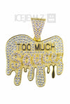Too much sauce micro Pendant 2 (Gold plate)
