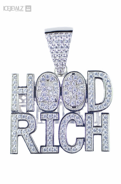 Hood Rich Micro Pendant (Silver) with Chain