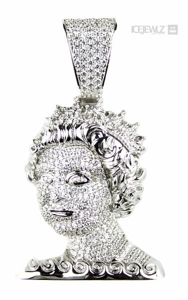 Products tagged silver pendants page 4 icejewlz queen head money pendant icejewlz 1 aloadofball Choice Image
