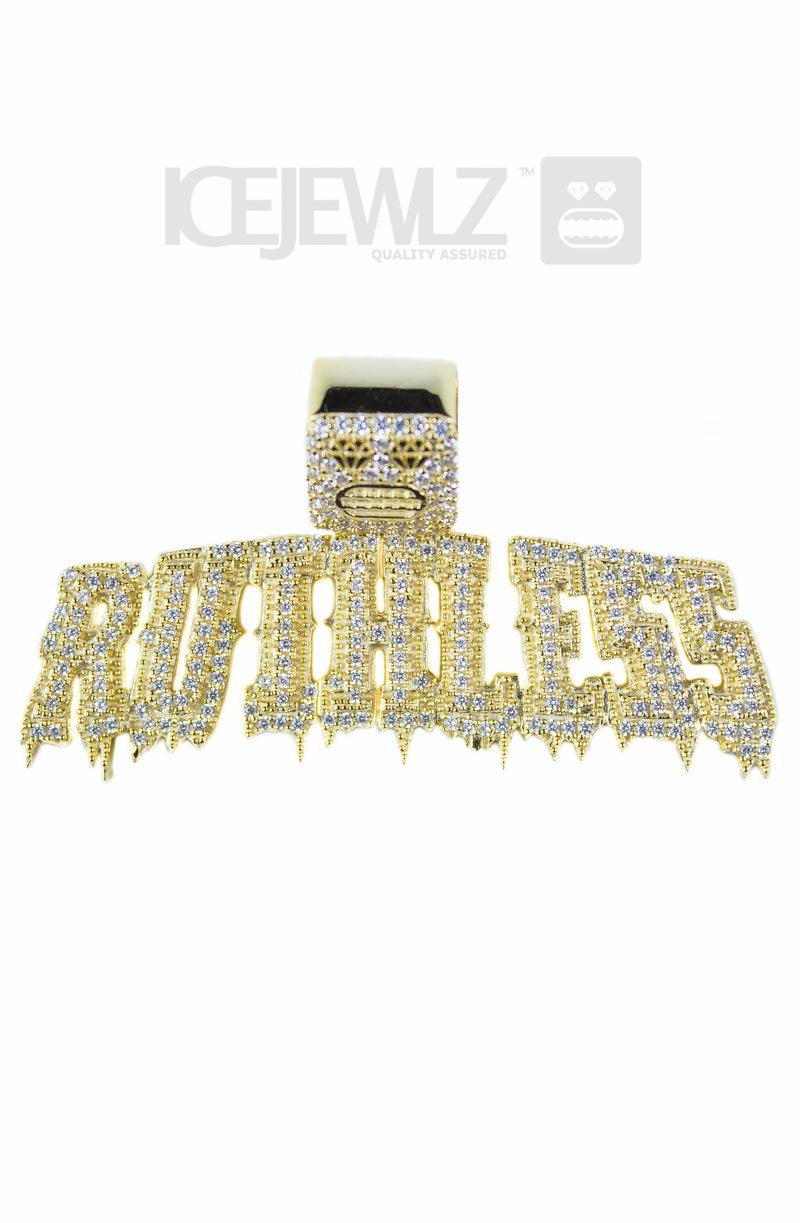 Ruthless Micro Pendant (Gold Plated)