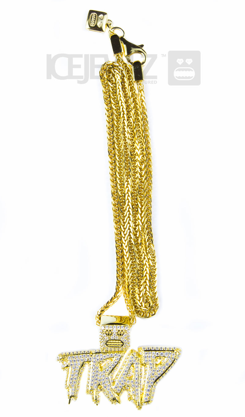 Trap Micro Pendant (Gold Plated)