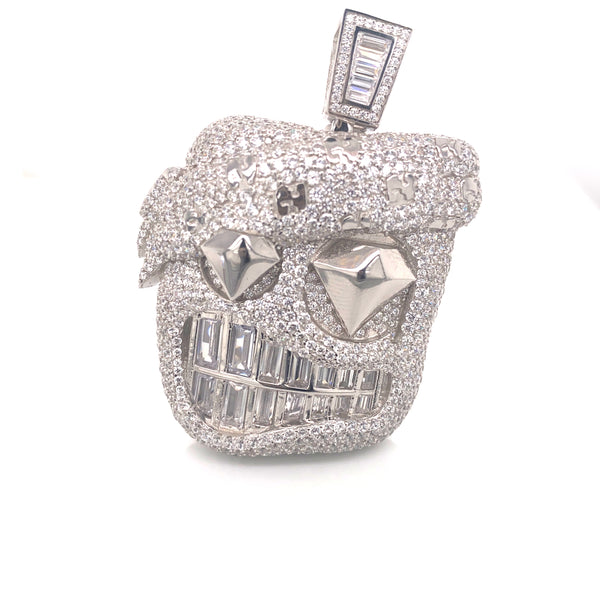 Johnny Icejewlz Pendant (silver) with a Chain
