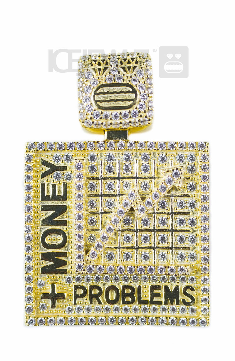 More Money More Problems Micro Pendant (Gold Plated)