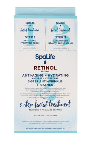 SpaLife - Three Step Facial Treatment with Retinol 3 Pack