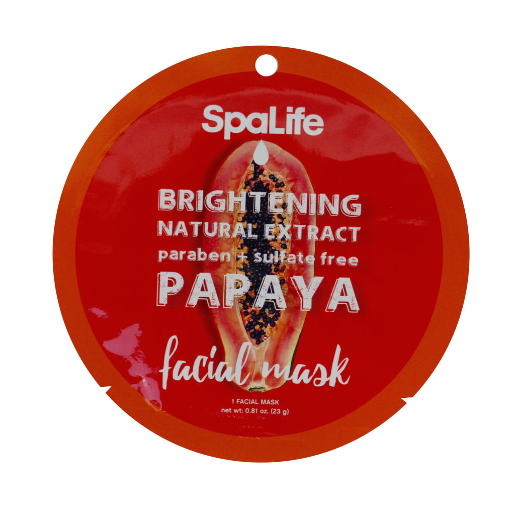 SpaLife Brightening Facial Mask - Papaya