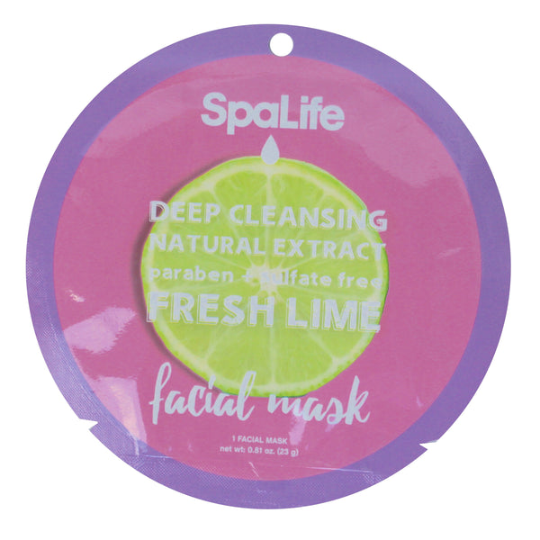 SpaLife Deep Cleansing Facial Mask - Lime