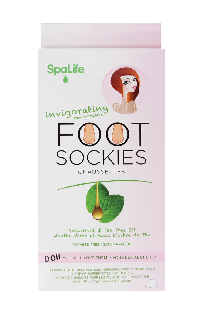SpaLife - Invigorating Foot Sockies Spearmint & Tea Tree Oil 2 Pack
