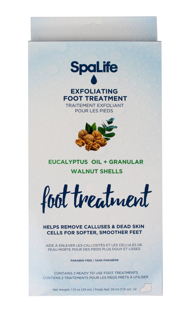 SpaLife - Exfoliating Foot Treatment with Eucalyptus Oil and Walnut Shells 2 Pack