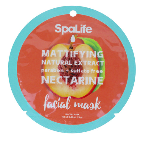 SpaLife Mattifying Facial Mask - Nectarine