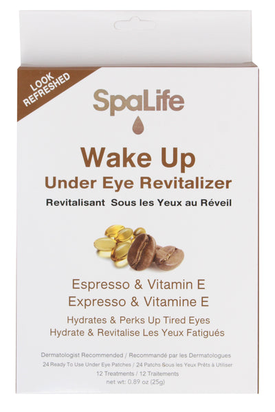 SpaLife - Revitalizing Espresso & Vitamin E Under Eye Treatment 12 Pack