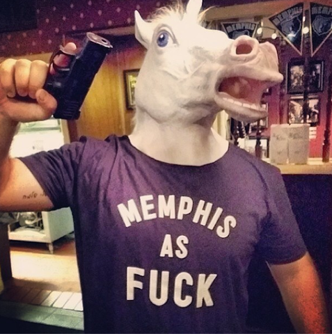 Memphis As Fuck Navy Tee
