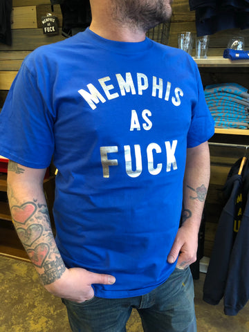 Memphis As Fuck Tiger Blue and Silver