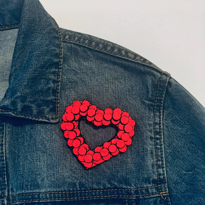 Sirkel Heart Brooch