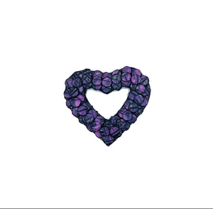 Swahili 3D Magnetic Heart Brooch