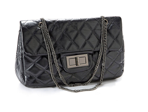Quilted Chain Messenger Bag - Anladia - 2