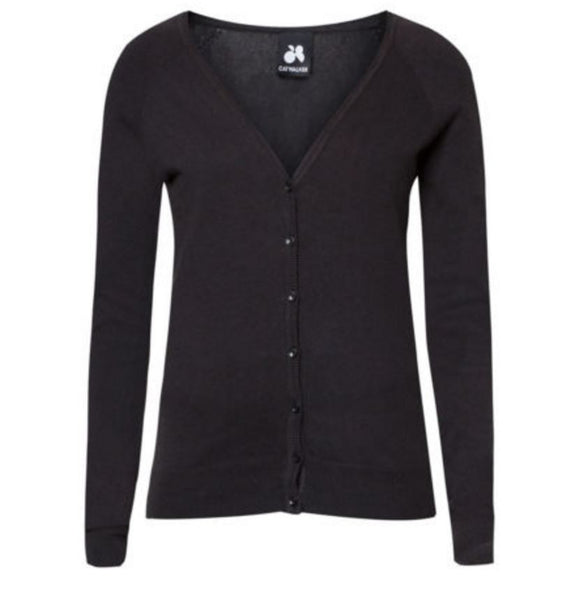 Black Knitted Cardigan - Anladia - 7
