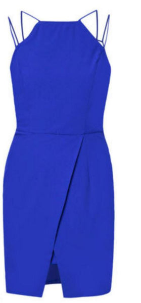 Blue Thin Strap Dress - Anladia - 8