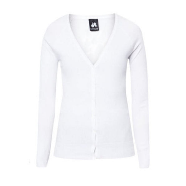 White Knitted Cardigan - Anladia - 6