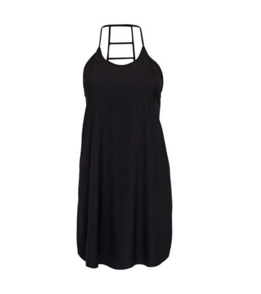 Black Ladder Back Dress - Anladia - 8