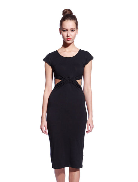 Black Tyra Dress - Anladia - 1