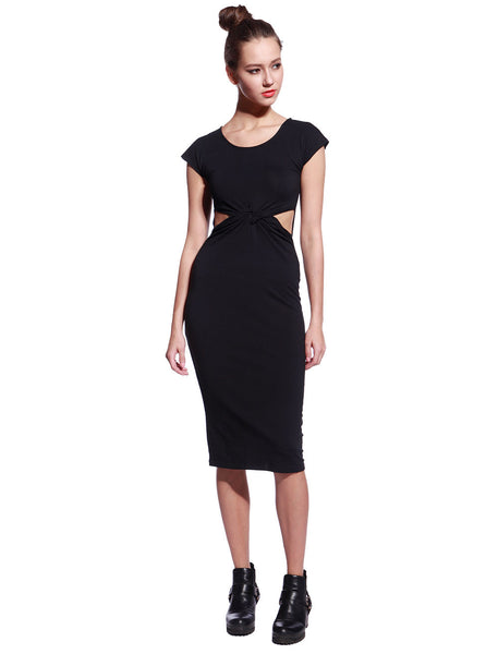 Black Tyra Dress - Anladia - 4