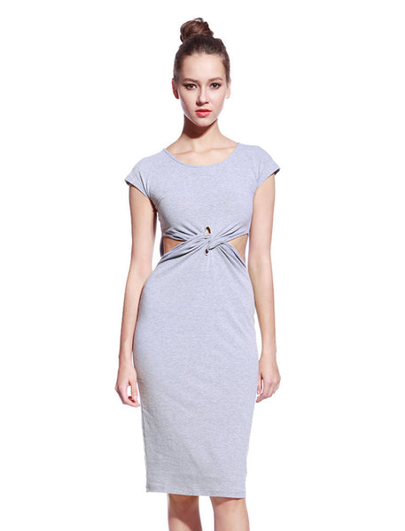 Grey Tyra Dress - Anladia - 1