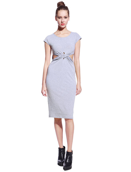Grey Tyra Dress - Anladia - 4