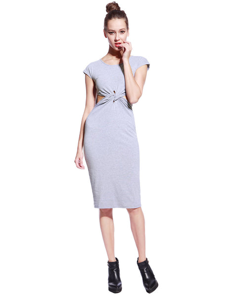 Grey Tyra Dress - Anladia - 5
