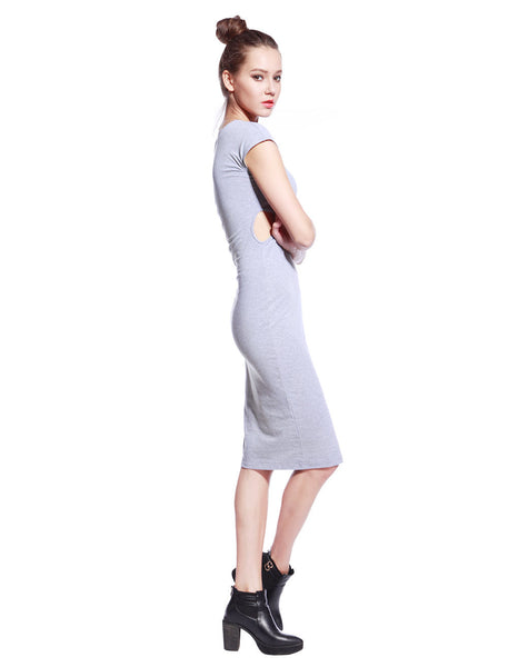 Grey Tyra Dress - Anladia - 7