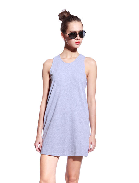 Grey One Piece Dress - Anladia - 1