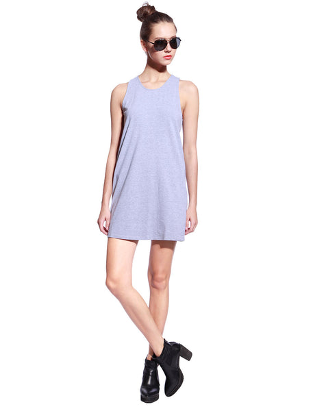Grey One Piece Dress - Anladia - 4