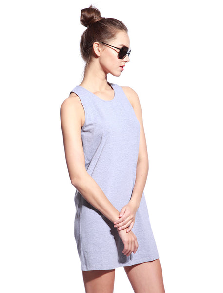 Grey One Piece Dress - Anladia - 2