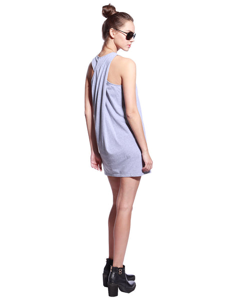 Grey One Piece Dress - Anladia - 6
