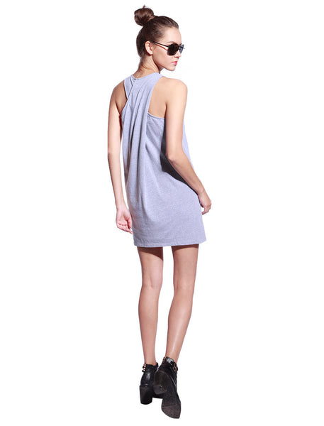 Grey One Piece Dress - Anladia - 7