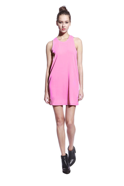 Pink One Piece Dress - Anladia - 4