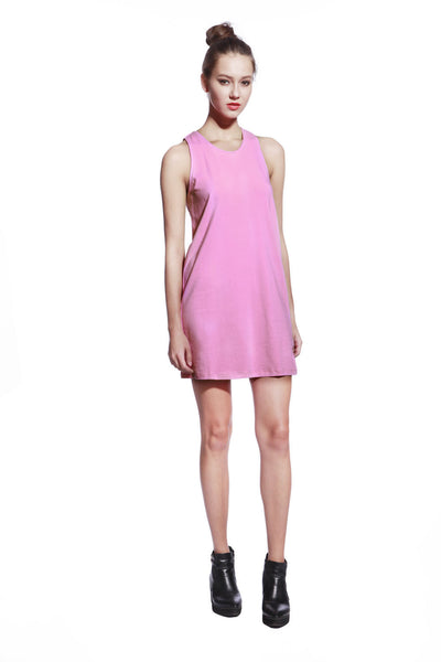 Pink One Piece Dress - Anladia - 3