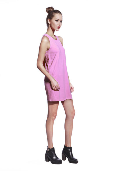 Pink One Piece Dress - Anladia - 5