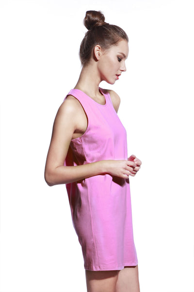 Pink One Piece Dress - Anladia - 2