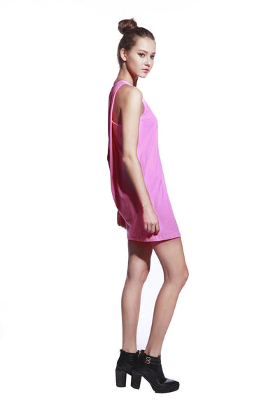 Pink One Piece Dress - Anladia - 6