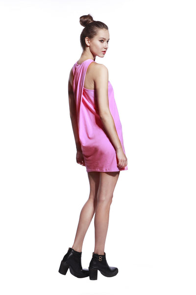 Pink One Piece Dress - Anladia - 7