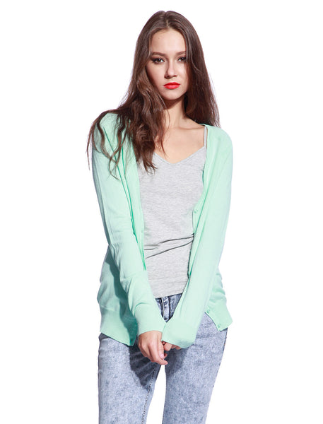 Green Knitted Cardigan - Anladia - 1