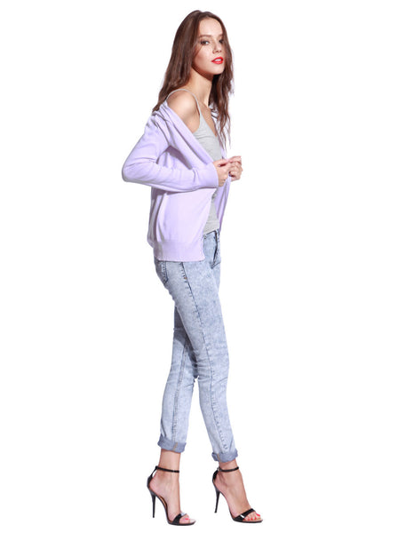 Pink Knitted Cardigan - Anladia - 5
